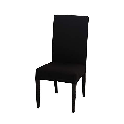 Chickwin stoelhoezen voor eetkamerstoel 2/4/6/10PCS, zwart hoge rug stretchstoelhoezen voor hotel eetkamer partij Spandex verwijderbare wasbare stoel cover Slipcovers