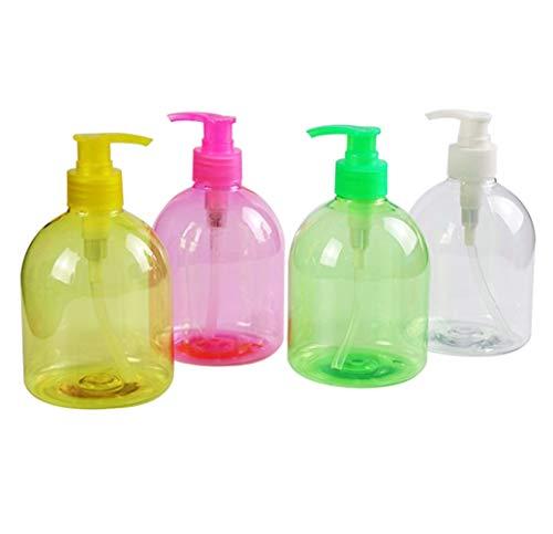 AIUIN 1 Piezas dispensadores de Desinfección Dispensador de Jabón Rellenable, Cantidad de Llenado, Dispensador de Jabón de Bomba Dispensador de Loción de Plástico (500 ml) - Colores al Azar