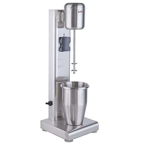 Valgus Batidora de leche de acero inoxidable, licuadora batidora de bebidas con soporte de bajo ruido de 1 l para helados, zumos de frutas, tiki y bebidas de cacao