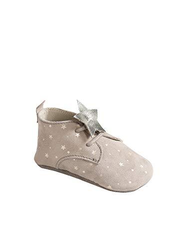 Vertbaudet Mädchen Baby Krabbelschuhe, Sterne beige 74