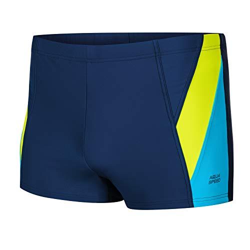 Aqua Speed Badehose für Herren eng + gratis eBook | Schwimmhose kurz | UV Moderne Schwimmbekleidung | Swimwear Navy Grün Blau | Gr. XXL | Logan