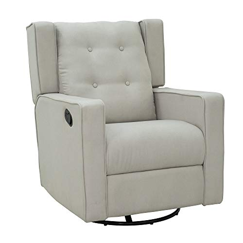 HOMCOM Wingback Recliner Chair Manual Rocking Sofa...
