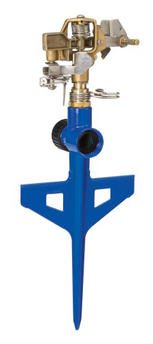 Dramm 15065 ColorStorm Premium 6-Inch Metal Stake Impulse Sprinkler, Blue