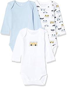 NAME IT 13173309 Pijama, Multicolor (Cashmere Blue Cashmere Blue), 62 (Pack de 3) para Bebés