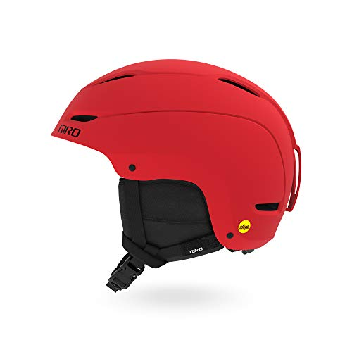 Giro Snow Unisex – volwassenen RATIO Mips skihelm, mat helder rood/zwart, S