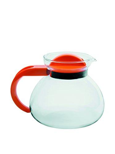 Excelsa Tea Time Teiera in Vetro Borosilicato 1.9 Litri, Dimensioni: 18 x 15 x 18 cm