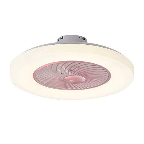 VISLONE Lámpara de techo moderna con mando a distancia, luz de 3 colores, 3 marchas, viento de 60 cm, ventiladores de techo de 220 V, iluminación LED para dormitorio, salón, comedor, decoración
