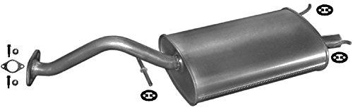 ETS-EXHAUST 51701 Silenziatore marmitta Posteriore + kit di montaggio (pour 211 214 216 1.1 1.4 1.6 HATCHBACK 59/75/103/112hp 1995-1999)
