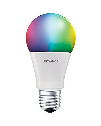 Osram Smart+ - Lampadina a forma di lampadina Bluetooth Parathom 10 Watt E27, opaca, CLA60 RGBW, multicolore