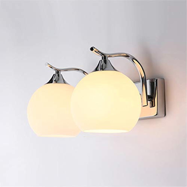 Nachtwandleuchte Einzelkopf Doppelkopf Indoor Schlafzimmer Einfache Stil Wandleuchte Lampe Bettwsche Lampe Kreative Treppe Wohnzimmer Lampe LCNINGBD (gre   Double head)