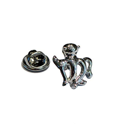 Gemelolandia | Silberne Oktopus-Anstecknadel | originelle Anstecker zum Verschenken | für Hemden, Kleidung oder für Ihren Rucksack | lustige Details