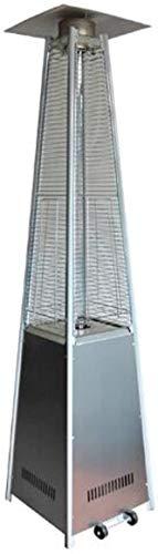 Calentador Calentador de Patio, al aire libre calentador de gas, tubo Pirámide Llama al aire libre calentador del vidrio de cuarzo calentador de propano, acero inoxidable en suelo propano líquido cale