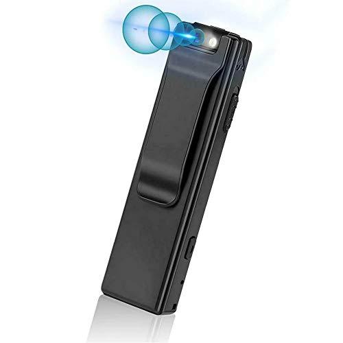 Mini Cámara Corporal,Cámara 1080P No Se Necesita WiFi,Cámara Corporal con Grabación De Audio Portátil,Cámara De Bolsillo para El Hogar Y La Oficina