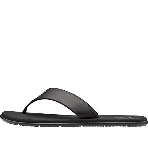 Helly Hansen Seasand Leather, Sandal Uomo, Nero (Black/Fallen Rock), 45 EU