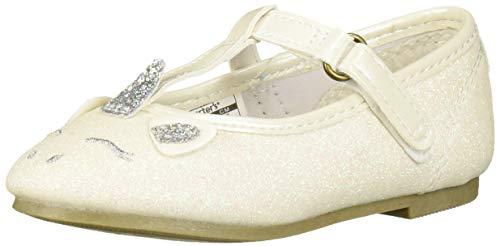 Carter's Girl's Emery Dress Shoe, White, 8 M US Toddler