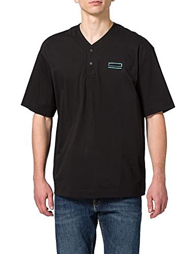 BOSS Pasea Camisa de Polo, Negro1, L para Hombre