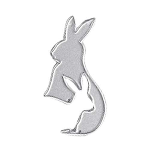 Stanssjablonen, paashaas konijntjes - metaal cutting dit sjabloon voor scrapbooking DIY album papier kaart kunst handwerk decor, lijstvorm, 3 x 6 cm