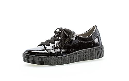 Gabor Damen Low-Top Sneaker, Frauen Halbschuhe,Wechselfußbett,Best Fitting,Strassenschuhe,Sportschuhe,Freizeitschuhe,schwarz (schwarz),43 EU / 9 UK