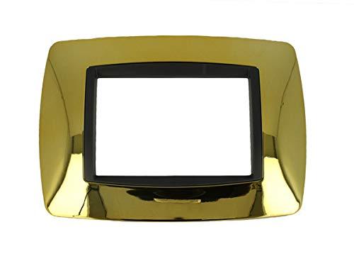 SANDASDON SD88003-13 Placca 3M Oro Lucido Bombe Compatibile Bticino Living International