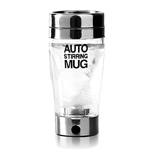 400 ml proteína eléctrica Shaker Cup Auto Shake Mezclador Bebida Mezclador de la botella Licuadora Juicer Shaker Copa para cócteles Vidrio