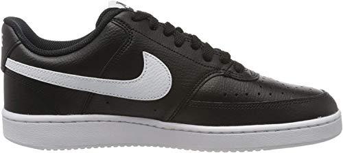 Nike Herren Court Vision Lo Basketballschuhe, Mehrfarbig (Black/White-Photon Dust 001), 41 EU