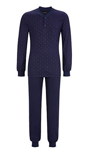 Ringella Herren Pyjama mit kurzer Knopfleiste Night 48 9541228, Night, 48
