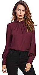 Alfa Fashion Party Puffy Sleeve Solid Womens Top
