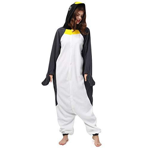 Katara 1744 (30+ Designs) Pinguin-Kostüm, Unisex Onesie/ Pyjama-Qualität für Erwachsene & Teenager