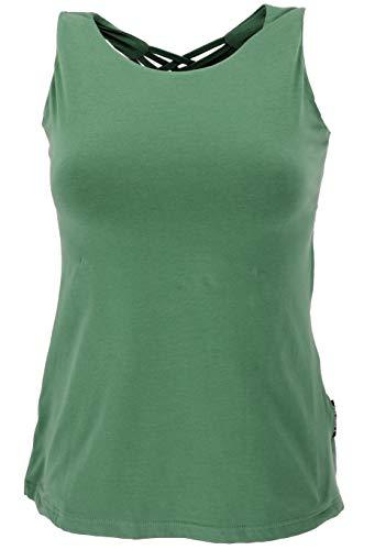 Guru-Shop Yoga-Top mit Aufwendigem Rückenteil in Bio-Qualität, Damen, Baumwolle, Tops & T-Shirts Alternative Bekleidung