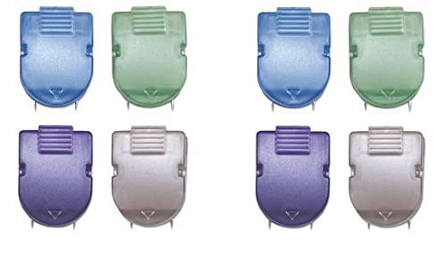 ADVANTUS Panel Wall Clip for Fabric Panels, Standard Size, 40-Sheet Capacity, Box of 20, Assorted Metallic Colors (75338), 2 Pack