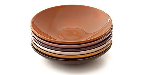 Kit com 6 pratos fundos, Coleção Especiarias, Acervo Panelinha