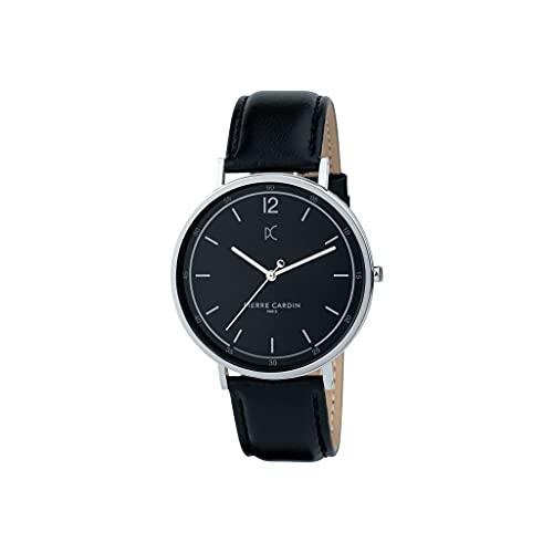 Pierre Cardin Bonne Nouvelle Light CBN.3003 - Reloj de pulsera de cuarzo para hombre de acero inoxidable con correa de piel