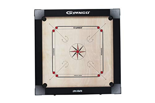 Gymnco Super Fast Carrom Board with Playing Area : 30 inch x 30 inch , Ply : 16 mm (1 Coin Set, 1 Striker & 1 Powder)