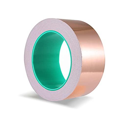 JOLIGAEA Cinta Adhesiva primera calidad cobre, 20m × 50 mm Cobre Hoja...
