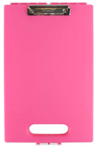 Dexas Clipcase Storage Clipboard with Handle, Pink