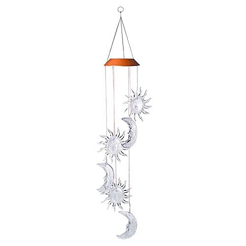 Solarbetriebenes Windspiel Licht LED Hausgarten Hängende Spinner Lampe Dekor