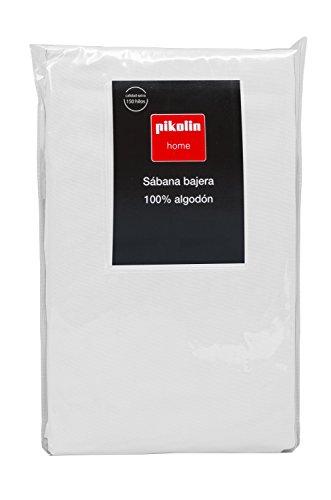 Pikolin Home - Sábana Bajera Ajustable, 100% Algodón, 80x200cm-Cama 80 (Todas las medidas)