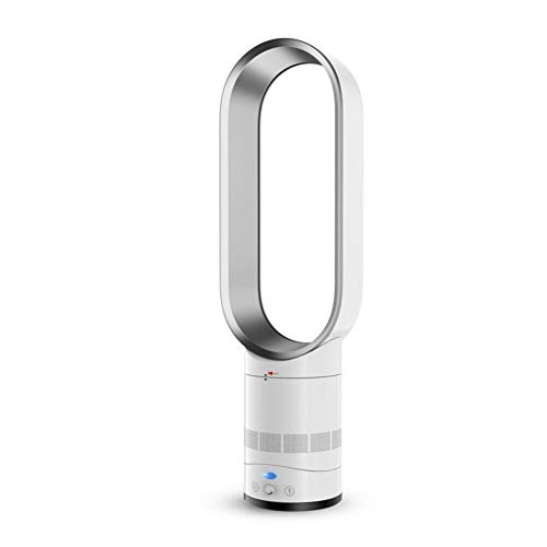 GGWW Refrigeradores Evaporativos, Sin Aspas del Ventilador del Refrigerador De Aire, Aire Acondicionado Ventilador Enfriador Negativo Ventilador De La Torre De Seguridad Iones, Mute Fan-Plata 16inch