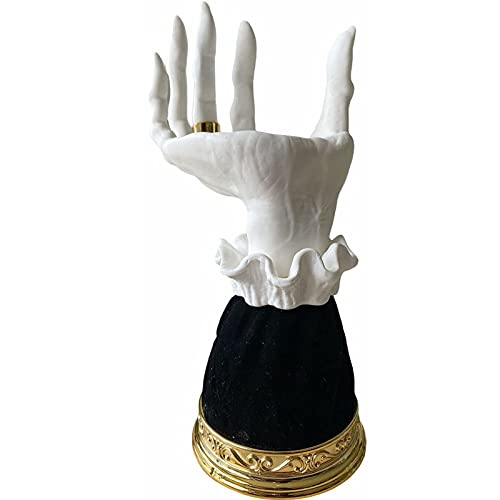 2 PCS bruja mano candelabro, halloween bruja manos esqueleto mano tenedor vela titular gótico decoración halloween decoración para el hogar resina vela para el festival decoración de fiesta de boda