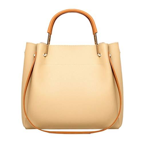 1pc grande capacité une épaule sac bandoulière sac poignée réglable sangles d'épaule sac pour femme (kaki)