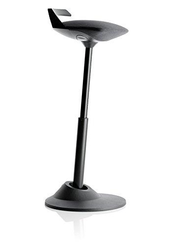 Muvman Sit-stand Stool (Black Seat / Black Base - Tall Version)