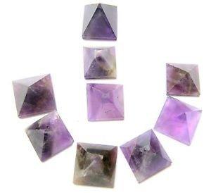Lose Pyramiden mit Amethyst, Heilung, Wellness, Herren, Damen, Geschenk, Reiki, Vaastu, psychische positive Energie, Feng Shui, metaphysisch