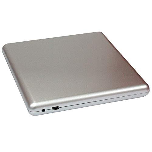 QUWN externe dvd-cd-station, draagbare cd-dvd-drive, automatische pop-in cd-/dvd-speler, met opbergtas voor USB-laptop