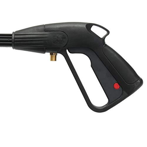 PR 160bar M14 Hochdruckpistolen Autowäsche Reinigungslanze Wand Kit Waschmaschine Spray (Color : Black)