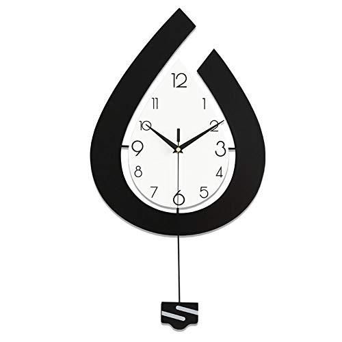 Luyshts Reloj de pared para sala de estar, moderno y minimalista, 30 cm x 57 cm