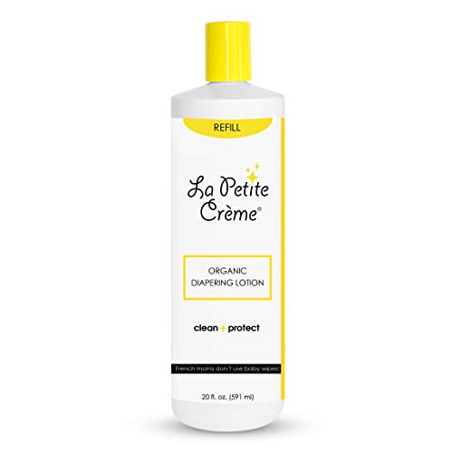 La Petite Creme - Organic French Diapering LotionAlternative To Baby Wipes Liniment (20 Oz REFILL) - USDA Certified Organic
