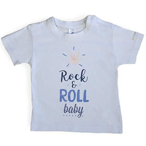Ropa Bebé. Camiseta Rock. Ropa divertida para bebé. Colección música. Unisex. (6-12 meses)