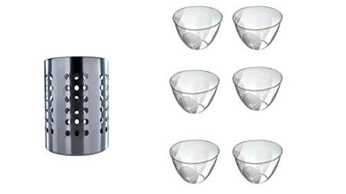 Ikea Ordning – Besteck Ständer, Edelstahl + Schalen-Set 6-TLG. 1000ml Müsli-Schüssel Obst-Schale Salat-Schale Suppe