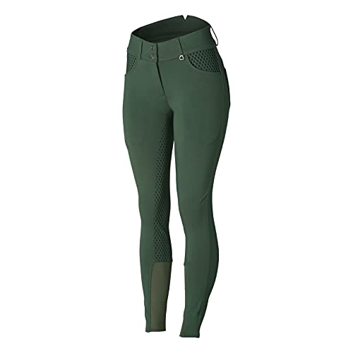 Product Image 1: HORZE Limited Edition Womens Eva Full Seat High Waist Breeches – Cilantro Green – 32