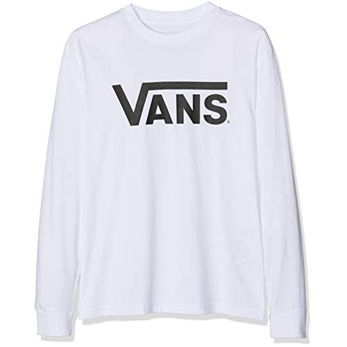 Vans Classic LS T-Shirt, Bianco (White-Black Yb2), (Taglia Produttore: 140 M) Bambino